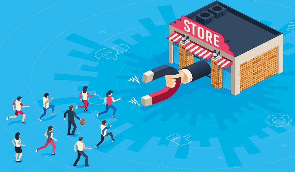 چگونه مشتری را به داخل مغازه بکشیم